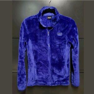 Fila blue fleece full zip jacket XS
